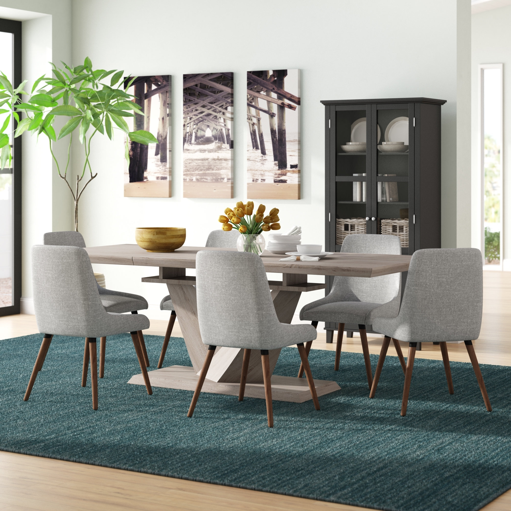 Simmers 7 Piece Dining Set (View 15 of 25)
