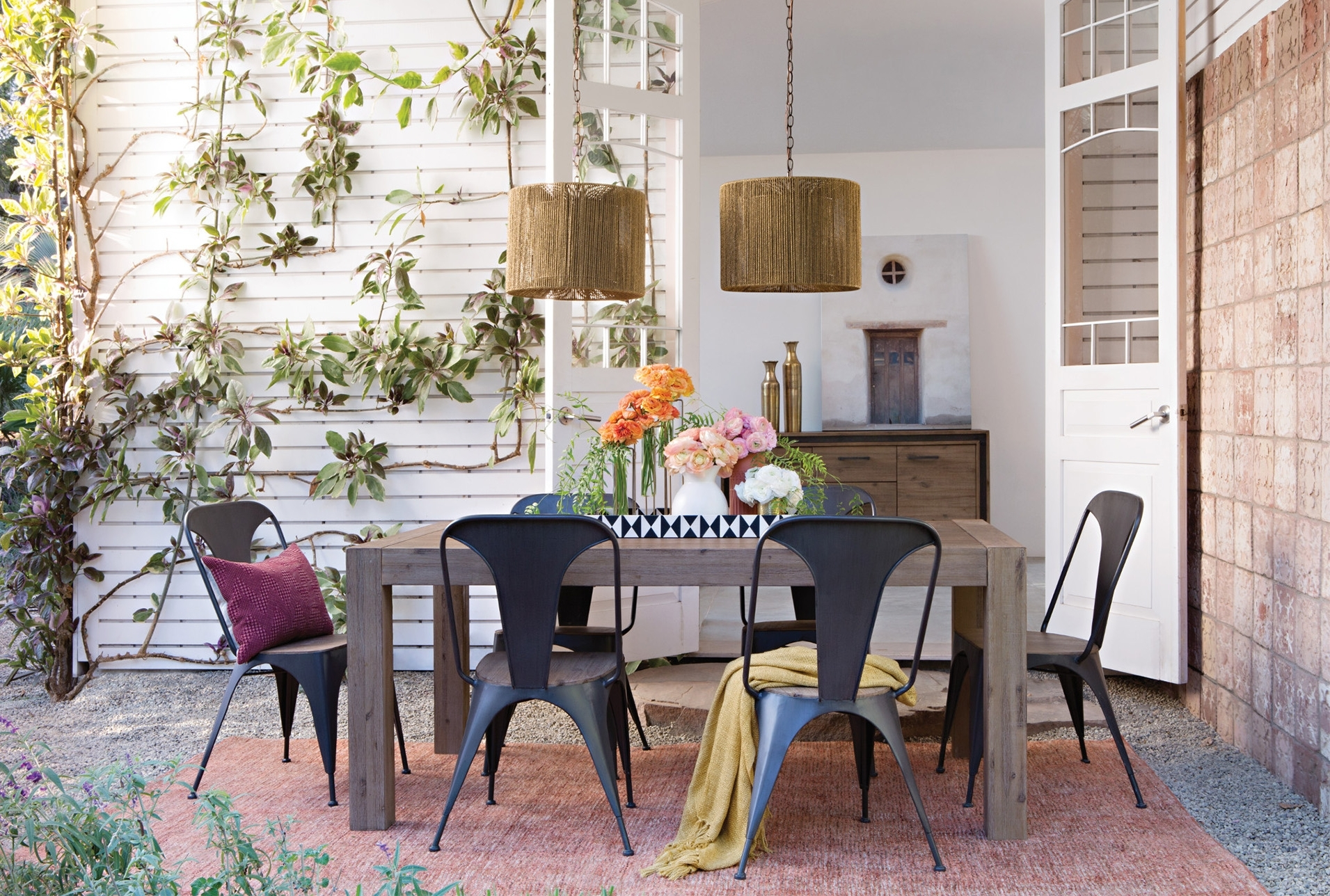 Simple Summer Dining Room Inside Newest Amos 7 Piece Extension Dining Sets (View 25 of 25)