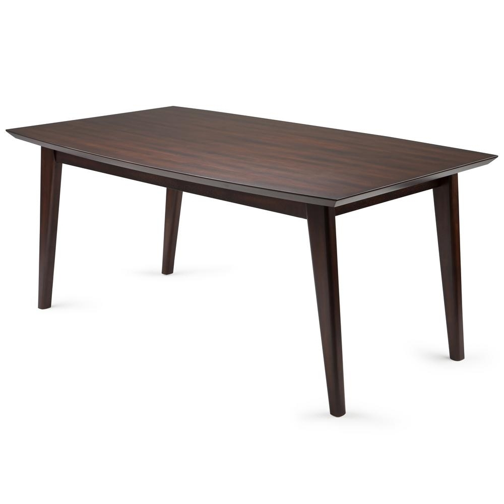 Simpli Home Draper Mid Century Java Brown Dining Table Axcdrpdt With Preferred Java Dining Tables (View 16 of 25)