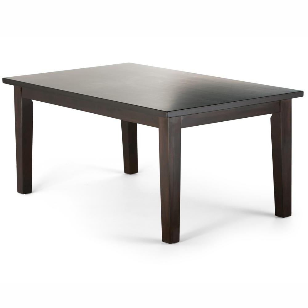 Simpli Home Eastwood Java Brown Dining Table 3Axcdnt 003 – The Home With Regard To Widely Used Java Dining Tables (View 3 of 25)