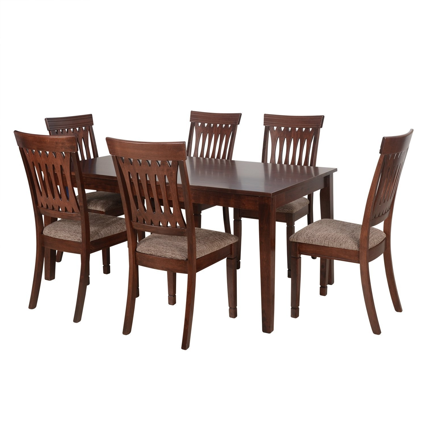 Six Seater Dining Set – Pharneechar – Online Furniture Store – Delhi/ncr Within Popular Six Seater Dining Tables (View 25 of 25)