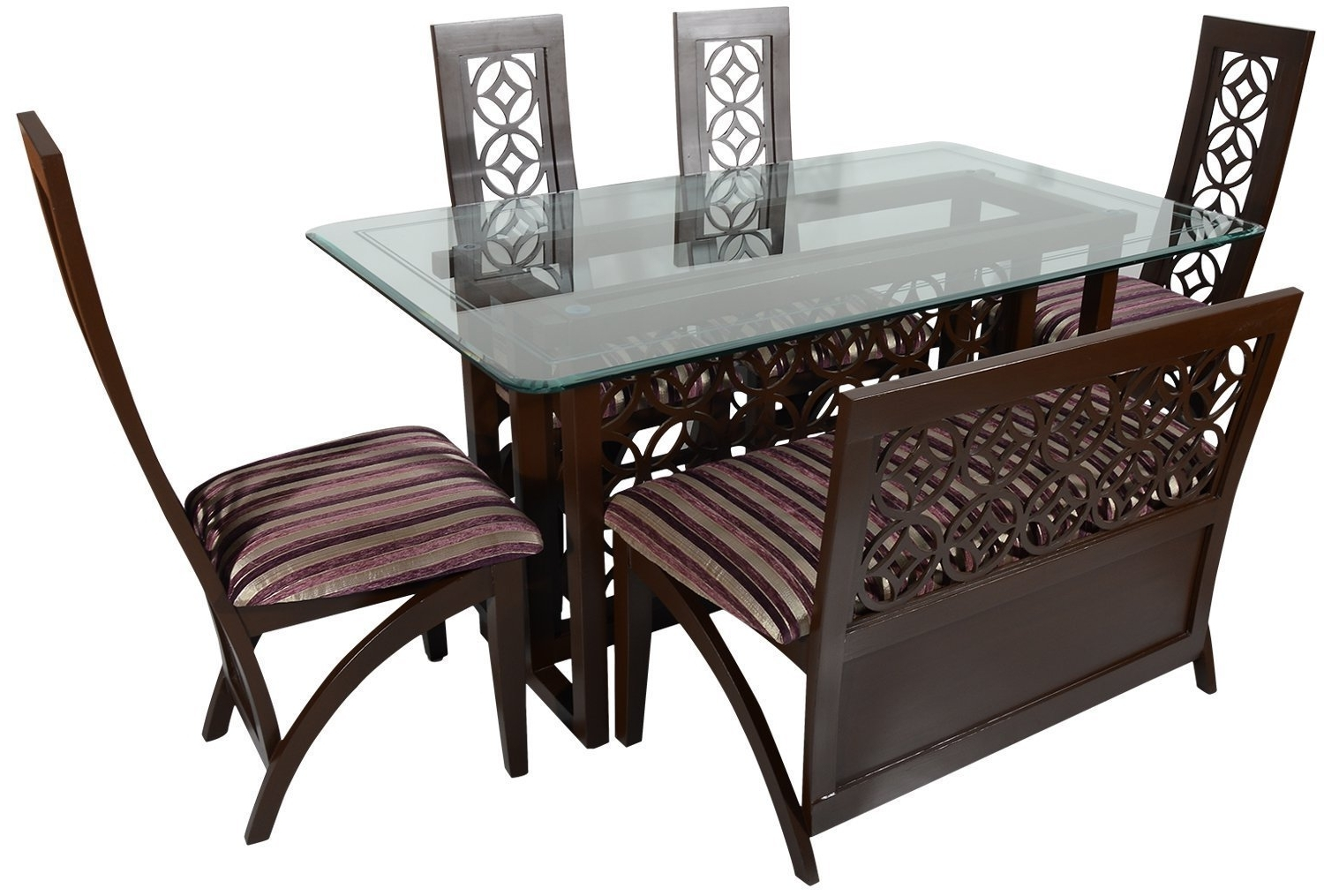 Six Seater Dining Tables In Newest Rawat Star Six Seater Dining Table (Muticolour) (View 6 of 25)