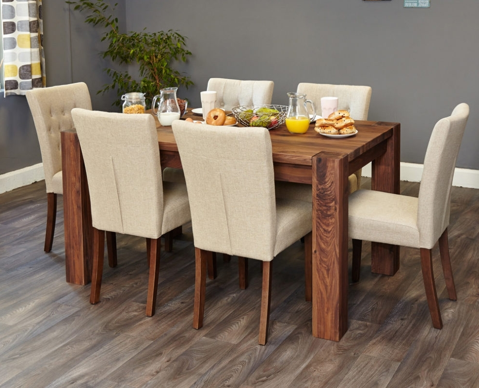 Six Seater Dining Tables Throughout Famous Walnut 150Cm Dining Table (4/6 Seater) – When In Home – Home (View 12 of 25)