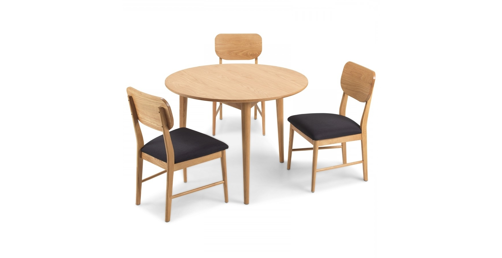 Skioa Circular Dining Table With 2 Chairs – Lifestyle Furniture Uk With 2017 Circular Oak Dining Tables (View 22 of 25)