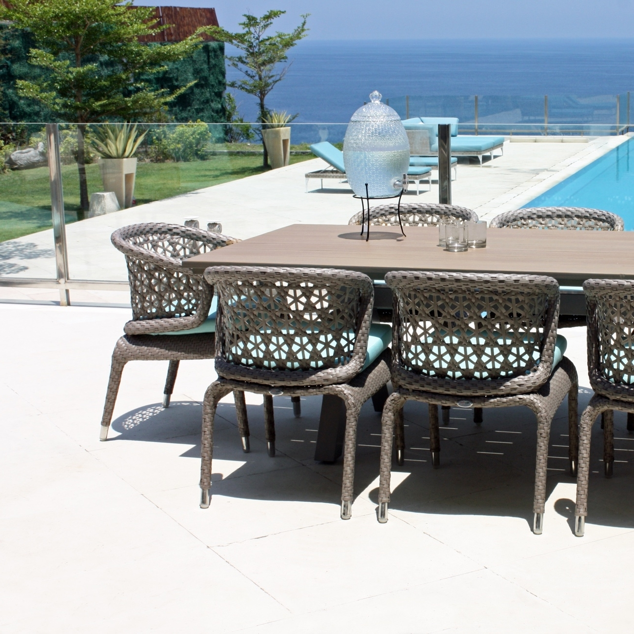 Skyline Journey Rectangle Table – Seats 8 – Luxury Outdoor Living For Most Up To Date Dining Tables Seats  (View 23 of 25)