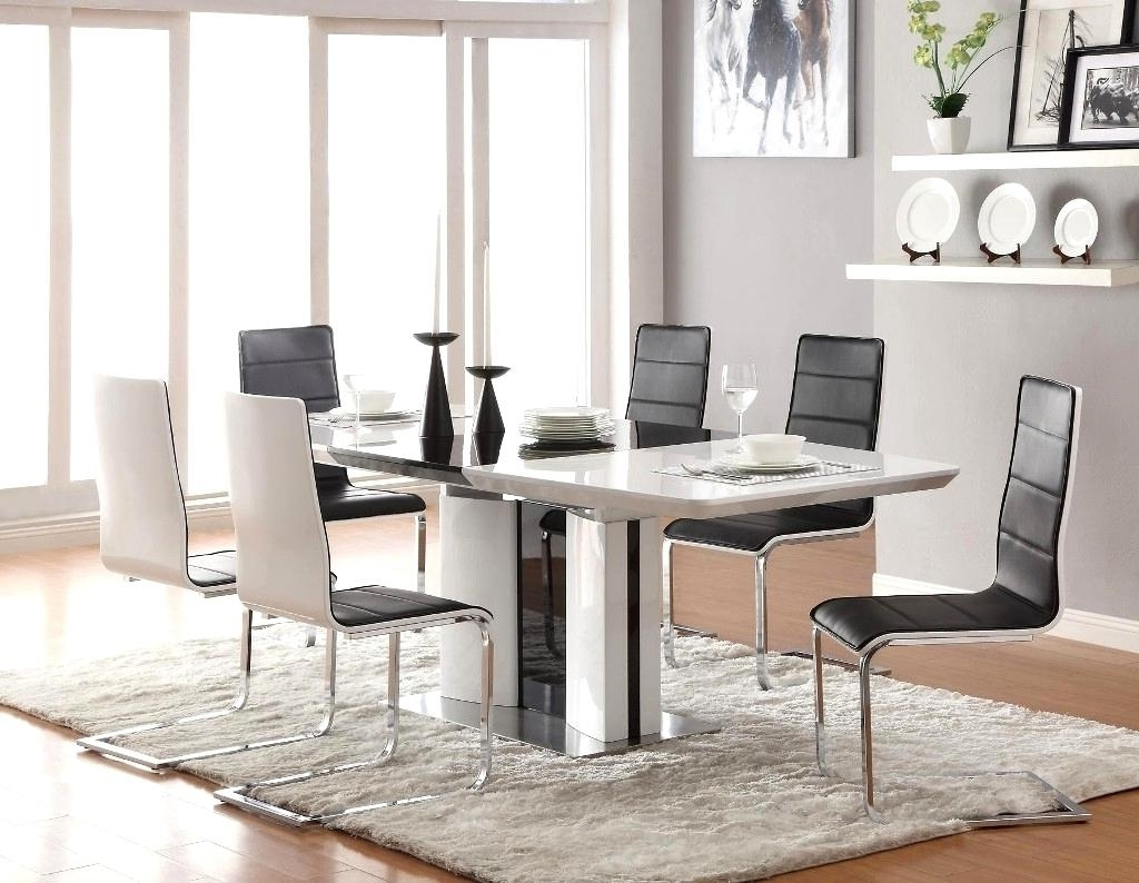 Sleek Dining Tables Regarding Famous Fantastic Contemporary Dining Tables Sleek Ideas Black Leather (View 20 of 25)