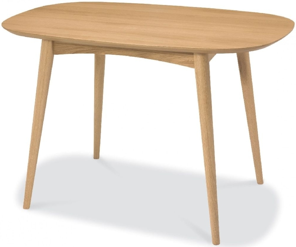 Small 4 Seater Dining Tables Inside Fashionable Buy Bentley Designs Oslo Oak Oval Dining Table – 129Cm Online – Cfs Uk (View 6 of 25)