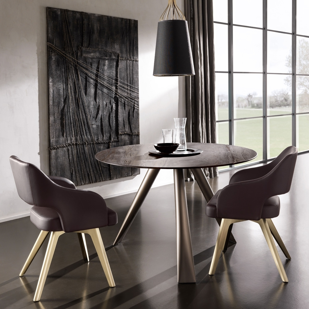 Small Dining Sets For Most Popular Contemporary Italian Round Small Dining Table And Chairs Set (View 12 of 25)