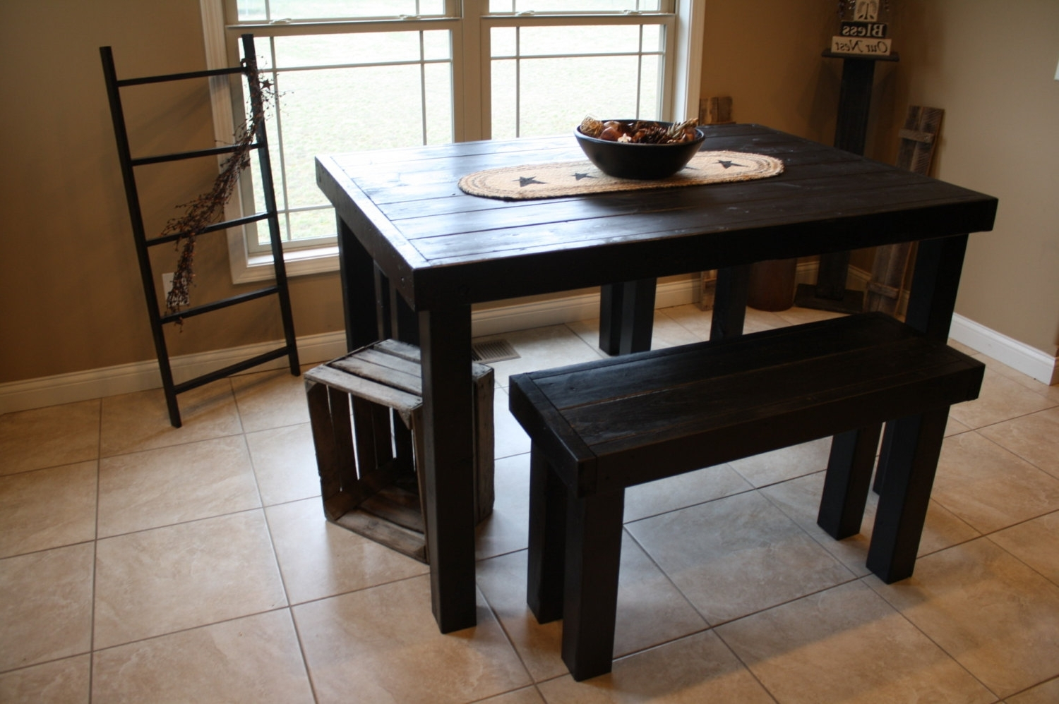Small Dining Tables And Bench Sets Pertaining To Recent Bench Dining Room Table Set – Castrophotos (View 8 of 25)