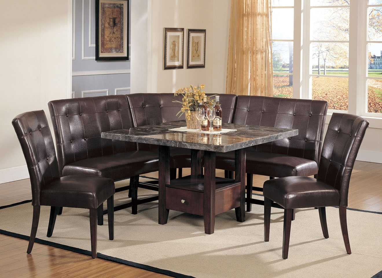 Small Dining Tables And Bench Sets Regarding Current Contemporary Formal Dining Room Sets Dining Table Set With Bench (View 20 of 25)