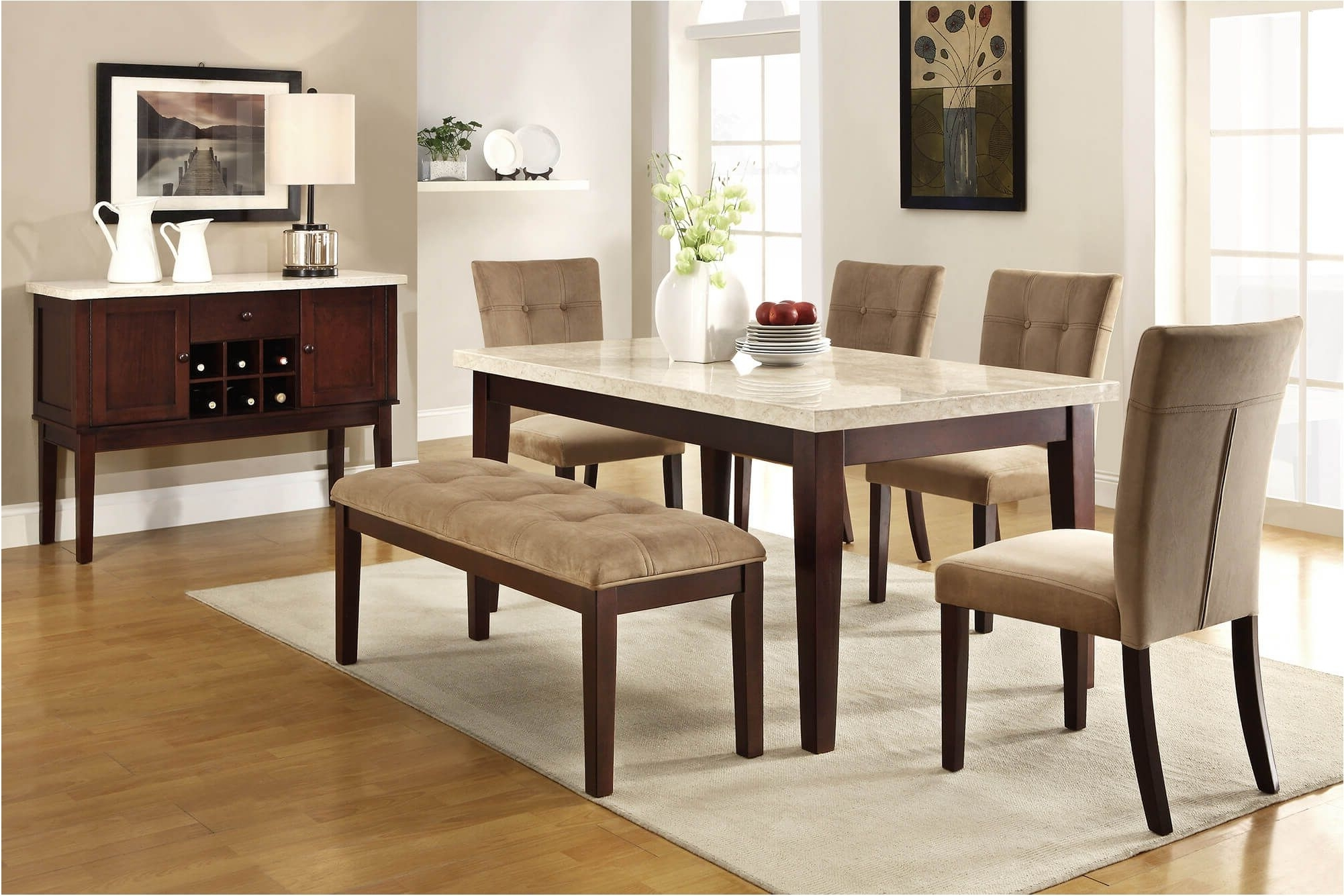 Featured Photo of Small Dining Tables And Bench Sets
