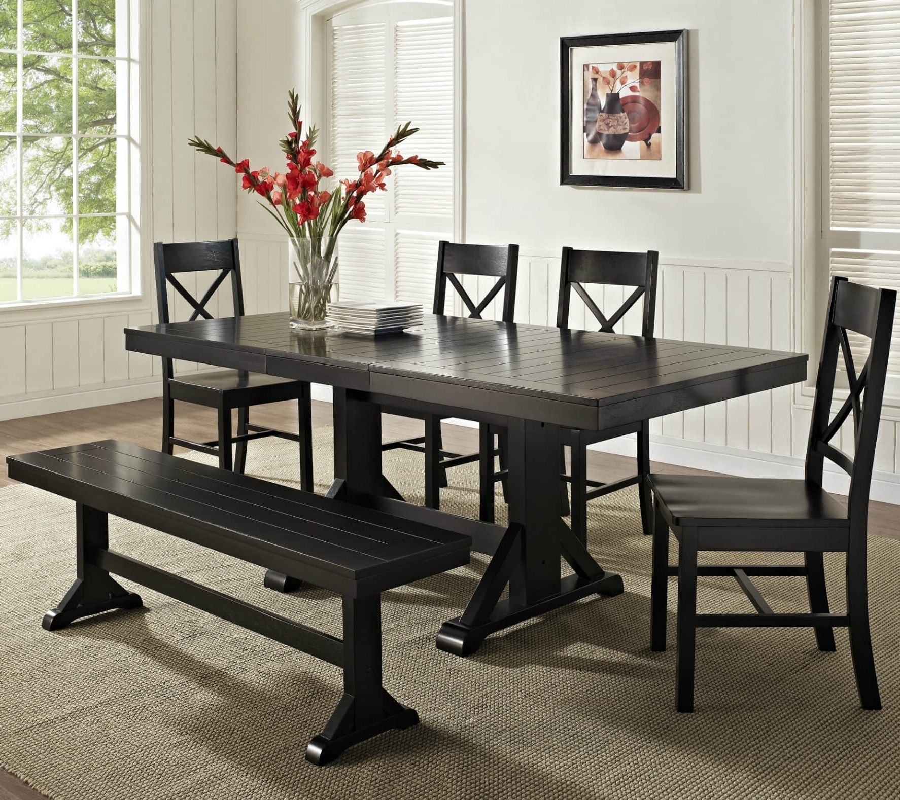 Small Dining Tables And Bench Sets With Regard To Recent 26 Dining Room Sets (Big And Small) With Bench Seating (2018) (View 13 of 25)