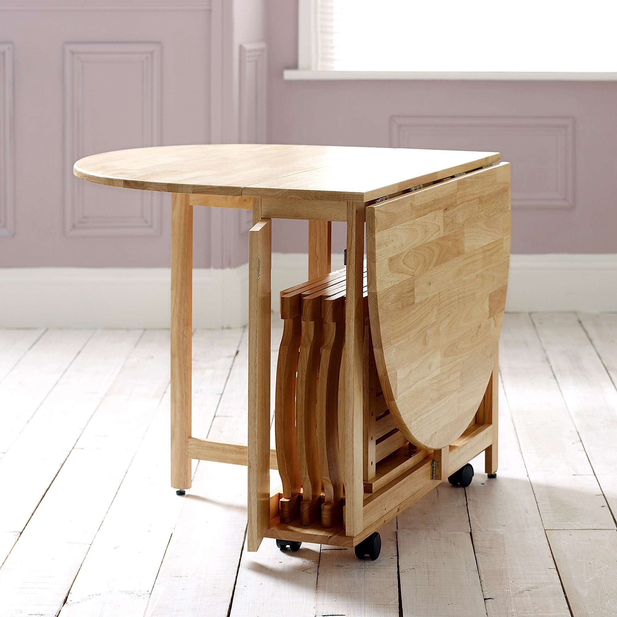 Small Dining Tables For 2 For Fashionable Choose A Folding Dining Table For A Small Space – Adorable Home (View 15 of 25)