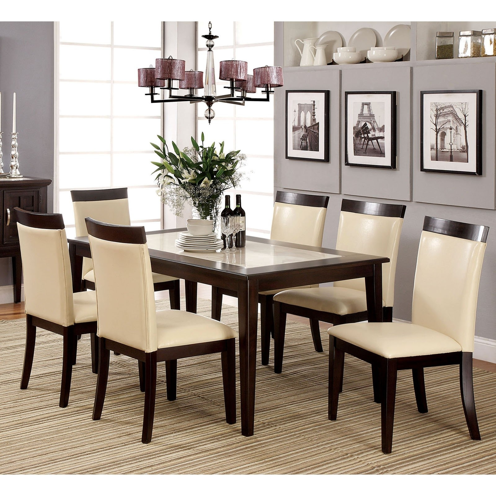 Small Marble Effect Dining Table With 6 Chairs Plus Top Together For With Popular Marble Effect Dining Tables And Chairs (View 25 of 25)