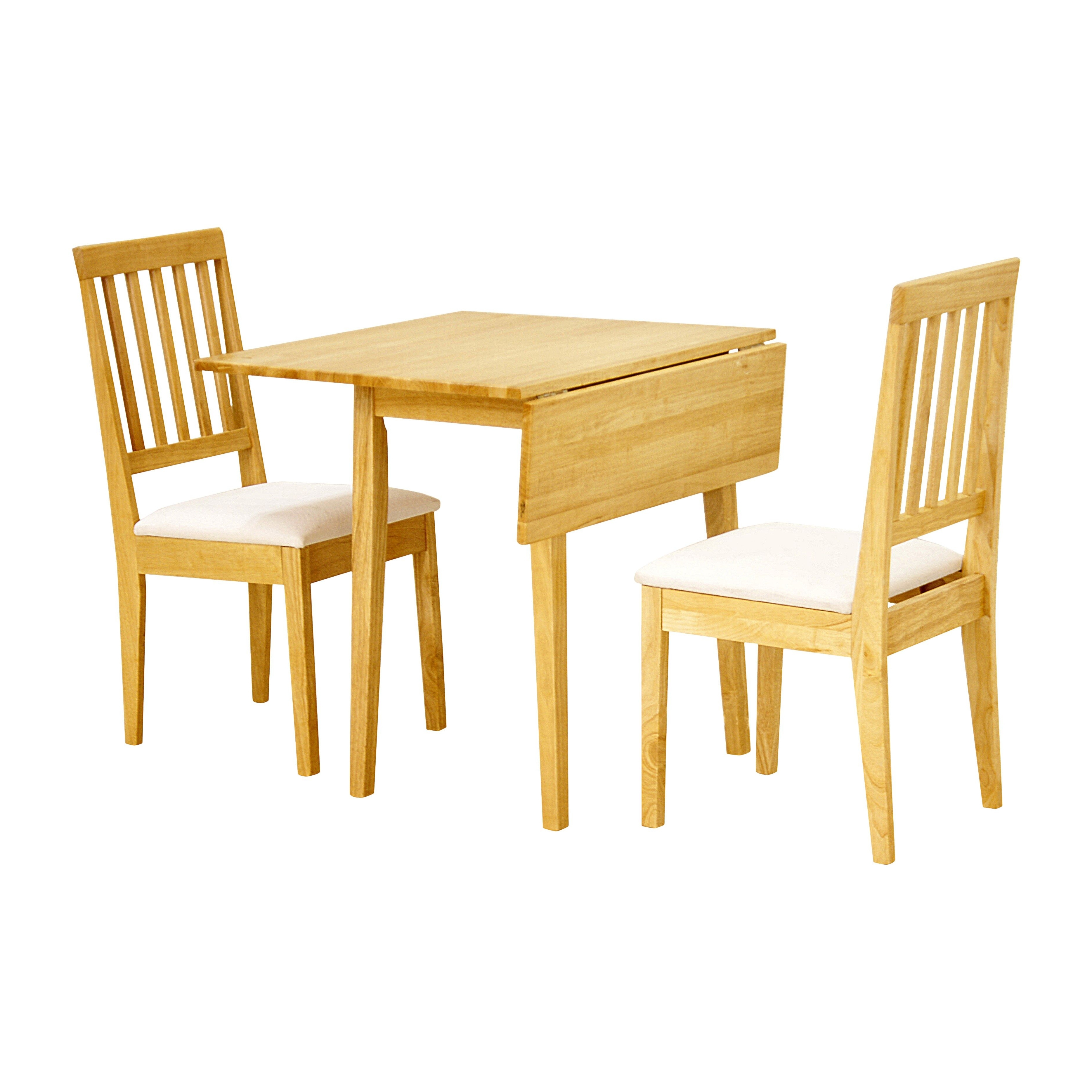 Small Oak Dining Table And 2 Chairs – Go To Chinesefurnitureshop Within Well Known Small Extendable Dining Table Sets (View 12 of 25)