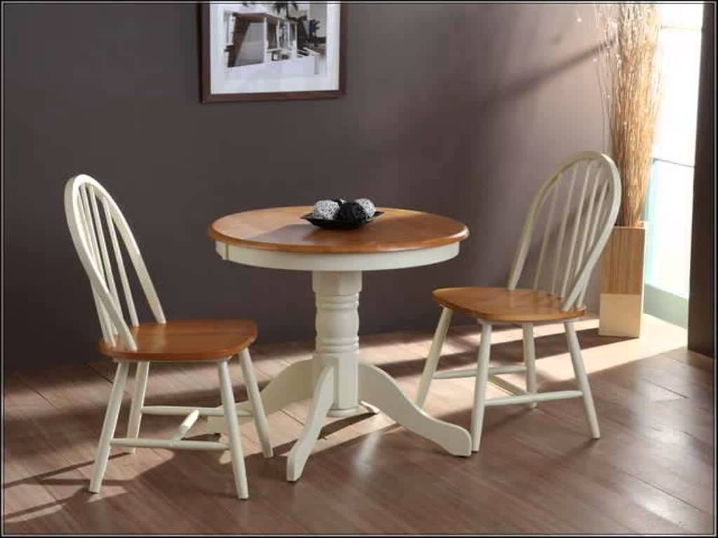 Small Round White Dining Tables With Current Small Round Kitchen Table With Chairs (View 2 of 25)