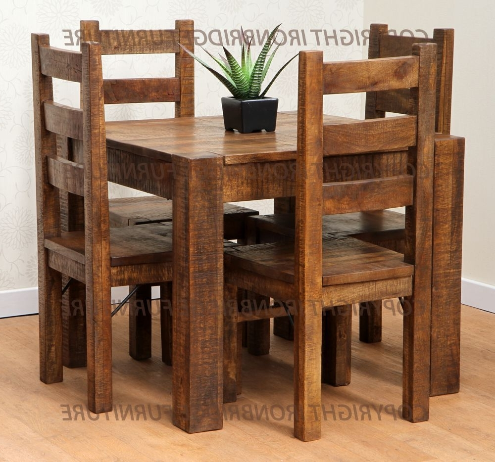 Small Rustic Kitchen Table Small Square Rustic Kitchen Table In Well Liked Small 4 Seater Dining Tables (View 25 of 25)