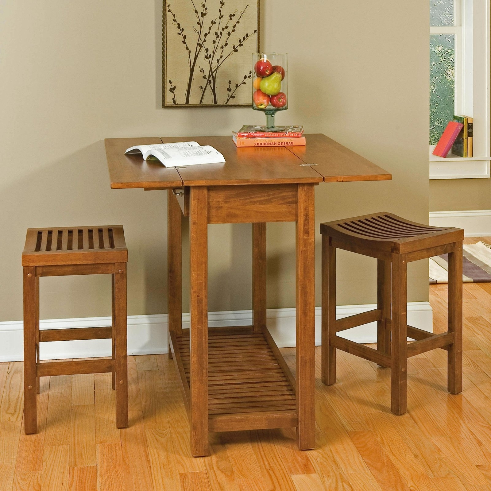 Small Two Person Dining Tables For 2017 Green Kitchen Walls For Fresh And Natural Looking Kitchen (View 7 of 25)
