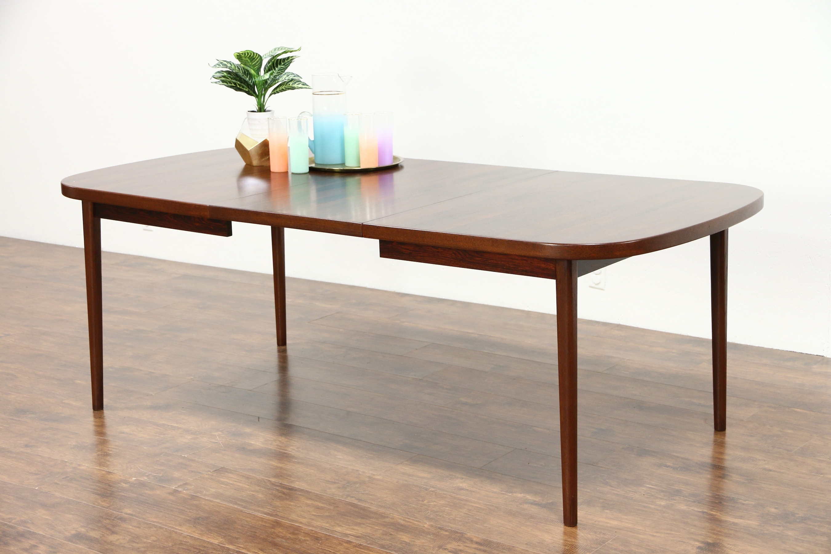 Sold – Midcentury Danish Modern Rosewood 1960's Vintage Dining Table Throughout 2017 Danish Dining Tables (View 2 of 25)
