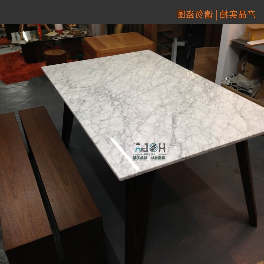 Solid Marble Dining Tables For 2018 Direct 6 Seater Modern Minimalist Scandinavian Style All Solid Wood (View 18 of 25)