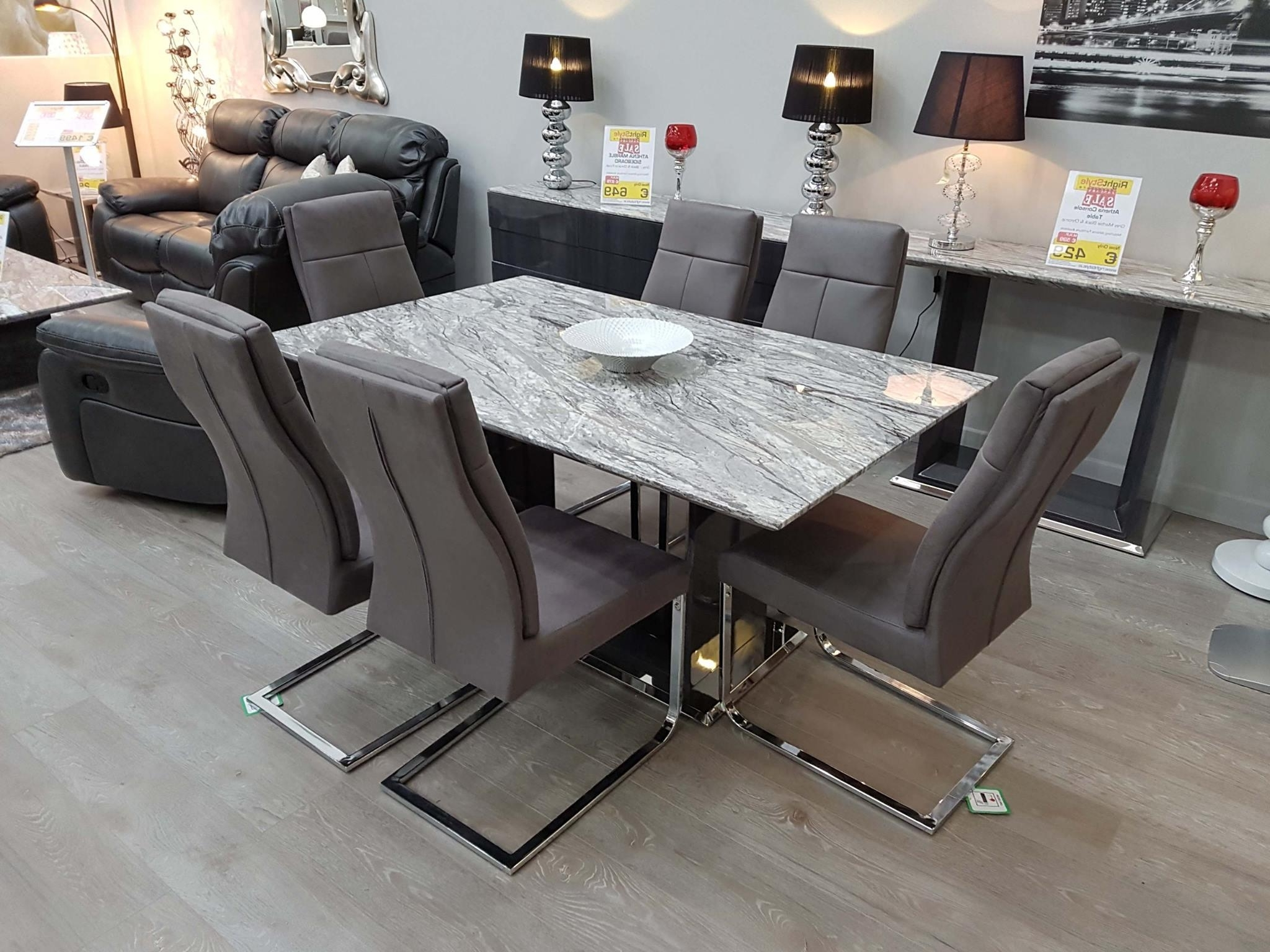 Solid Marble Dining Tables Inside Most Recent Athena 160Cm Solid Marble Dining Set – Dublin, Ireland Furniture (View 8 of 25)
