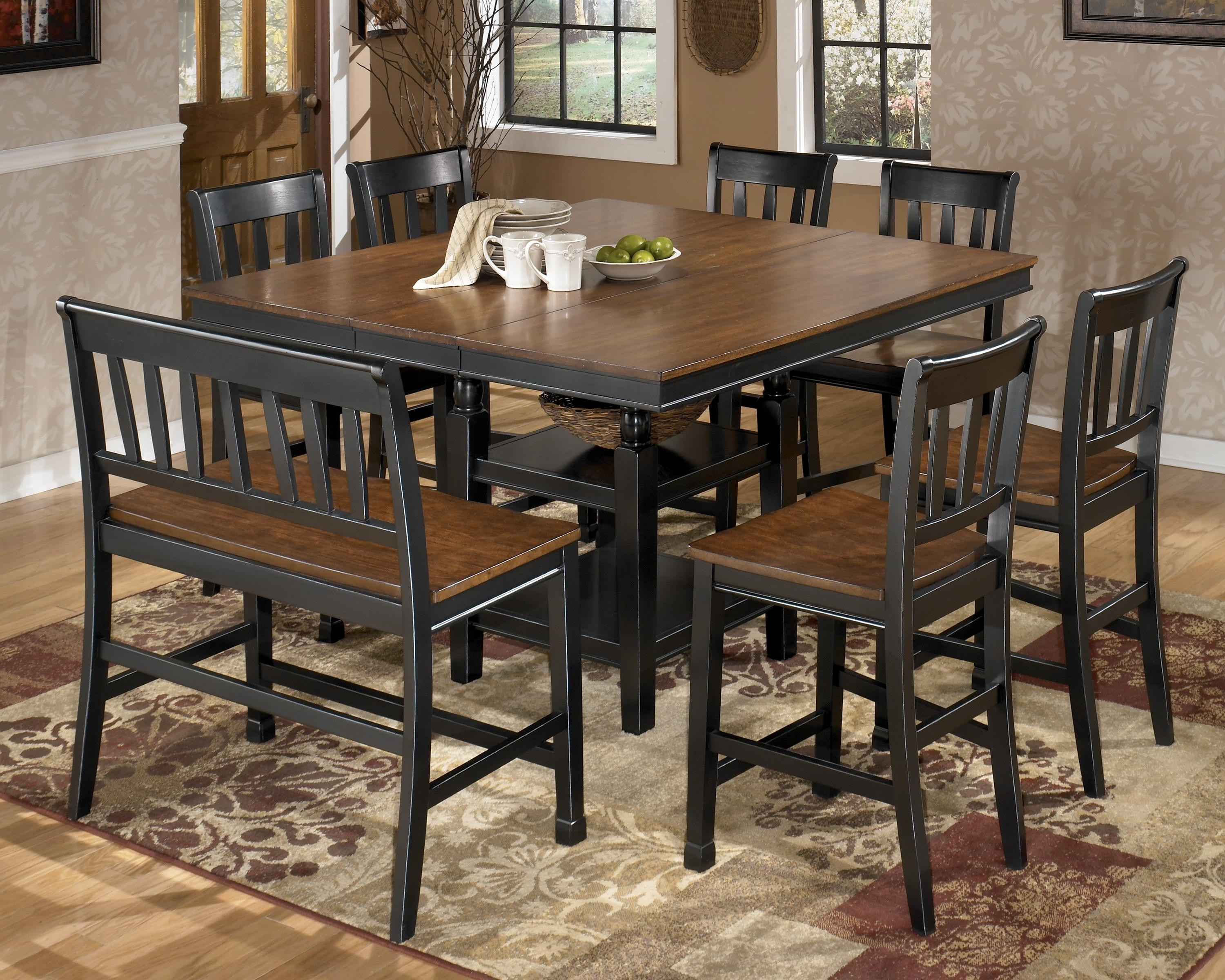 Solid Oak Dining Room Table And 8 Chairs New Ashley Counter Height Inside 2017 Dining Tables With 8 Chairs (View 16 of 25)