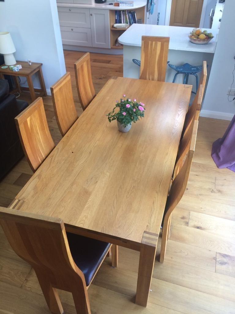 Solid Oak Dining Table And 8 Chairs (View 4 of 25)