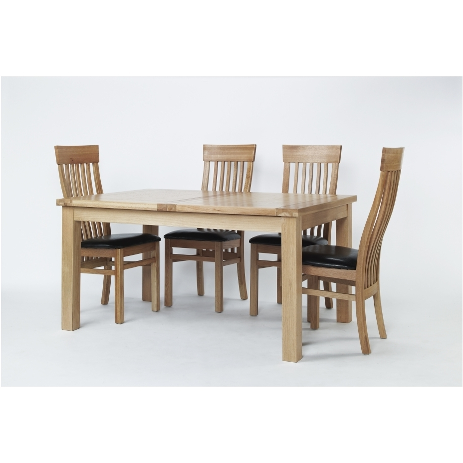 Solid Oak Dining Table With 6 Chairs Acorn Extending Contemporary Throughout Latest Extending Dining Tables And 6 Chairs (View 23 of 25)