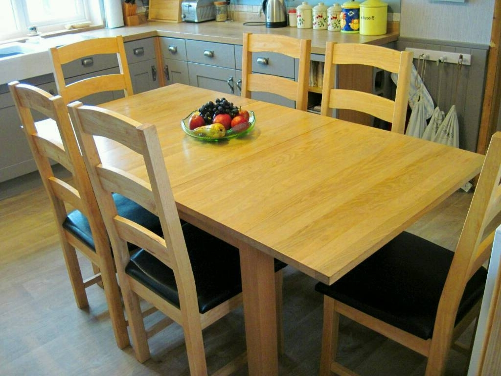 Solid Oak Dining Tables And 6 Chairs With Widely Used Modern Style Solid Oak Dining Table And 6 Chairs (View 21 of 25)