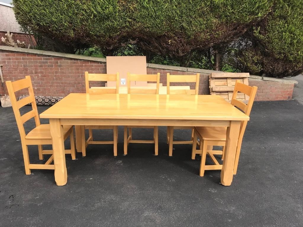 Solid Oak Dining Tables And 8 Chairs In Best And Newest Only £250 Ono Solid Oak Dining Table With 8 Chairs (View 17 of 25)