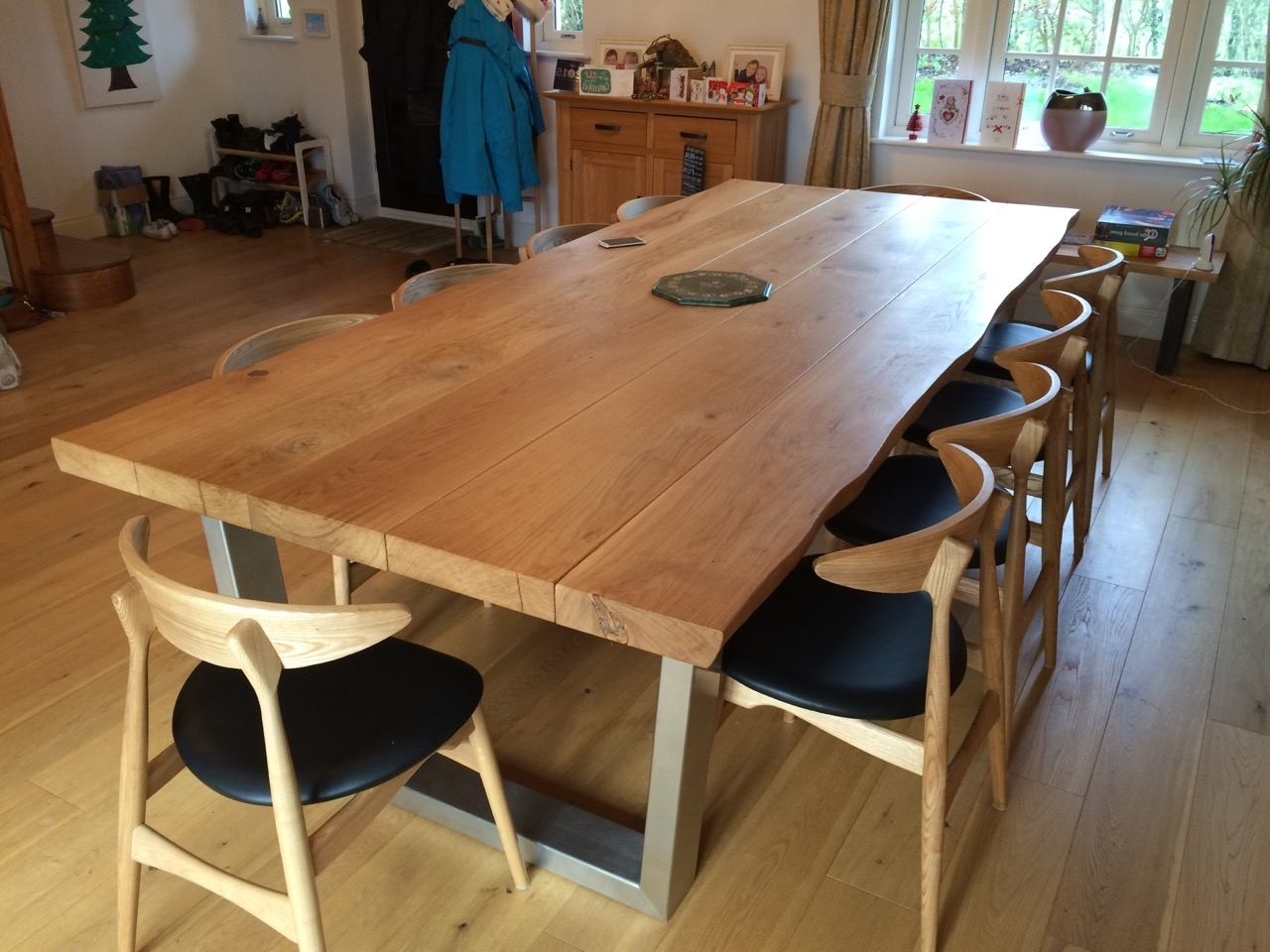 Solid Oak Dining Tables Inside Recent Large Solid Wood Dining Tabletarzan Tables – Tarzantables.co (View 6 of 25)