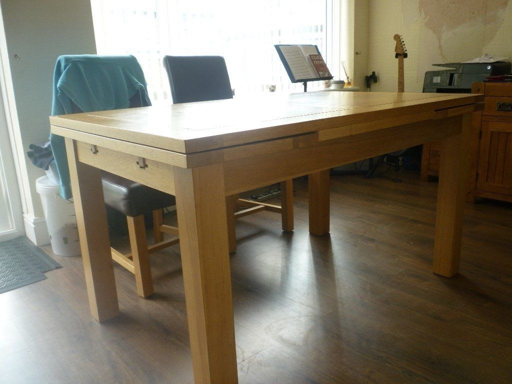 Solid Oak Dining Tables Within Best And Newest Solid Oak Dining Table (View 24 of 25)