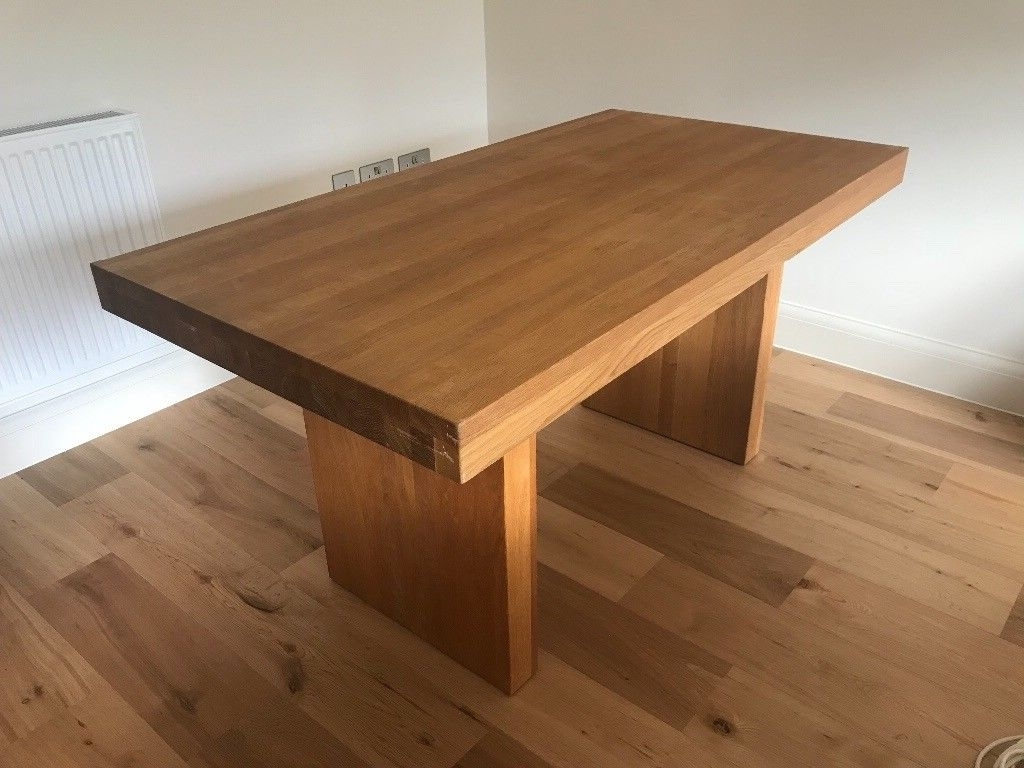 Solid Oak Dining Tables Within Latest John Lewis 'henry' Solid Oak Dining Table 150 X  (View 21 of 25)