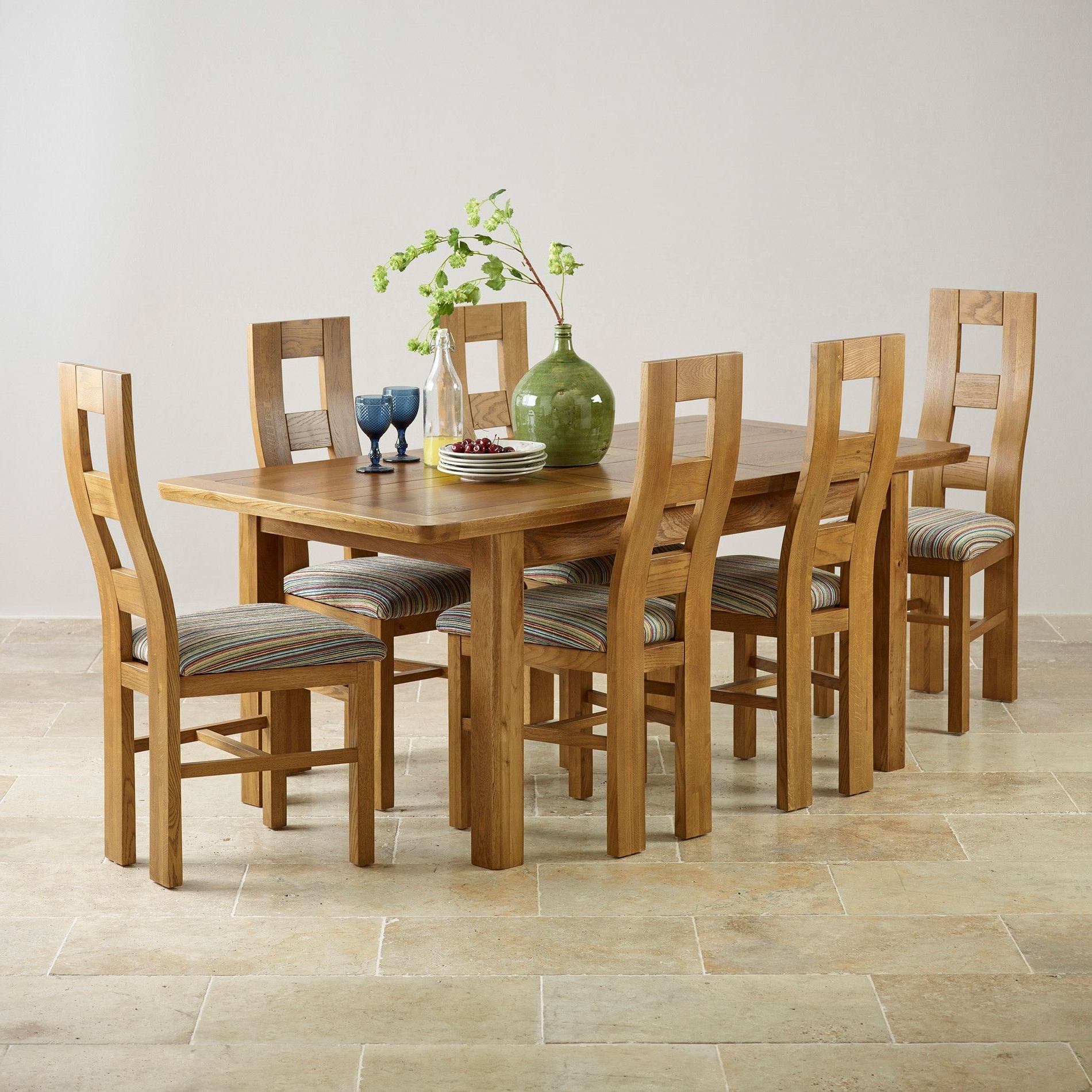 Solid Oak Extending Dining Table And 6 Chairs – Go To Regarding 2017 Oak Extending Dining Tables And 6 Chairs (View 24 of 25)