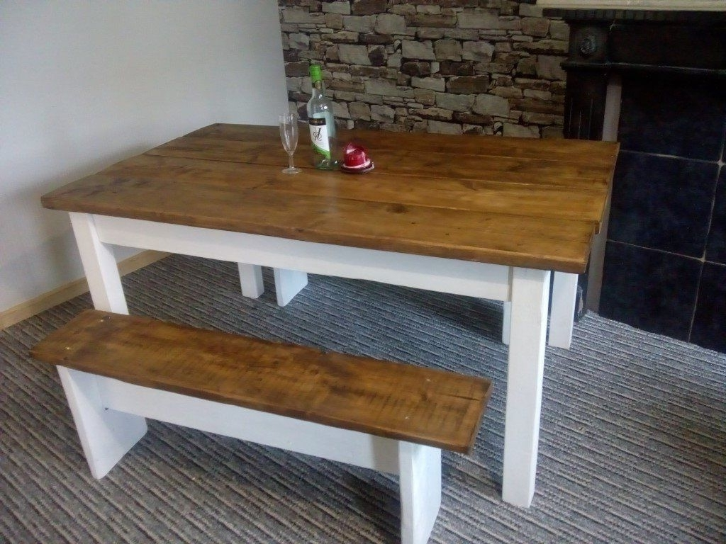Solid Reclaimed Wood Dining Table Set 5Ftx3Ft (View 18 of 25)