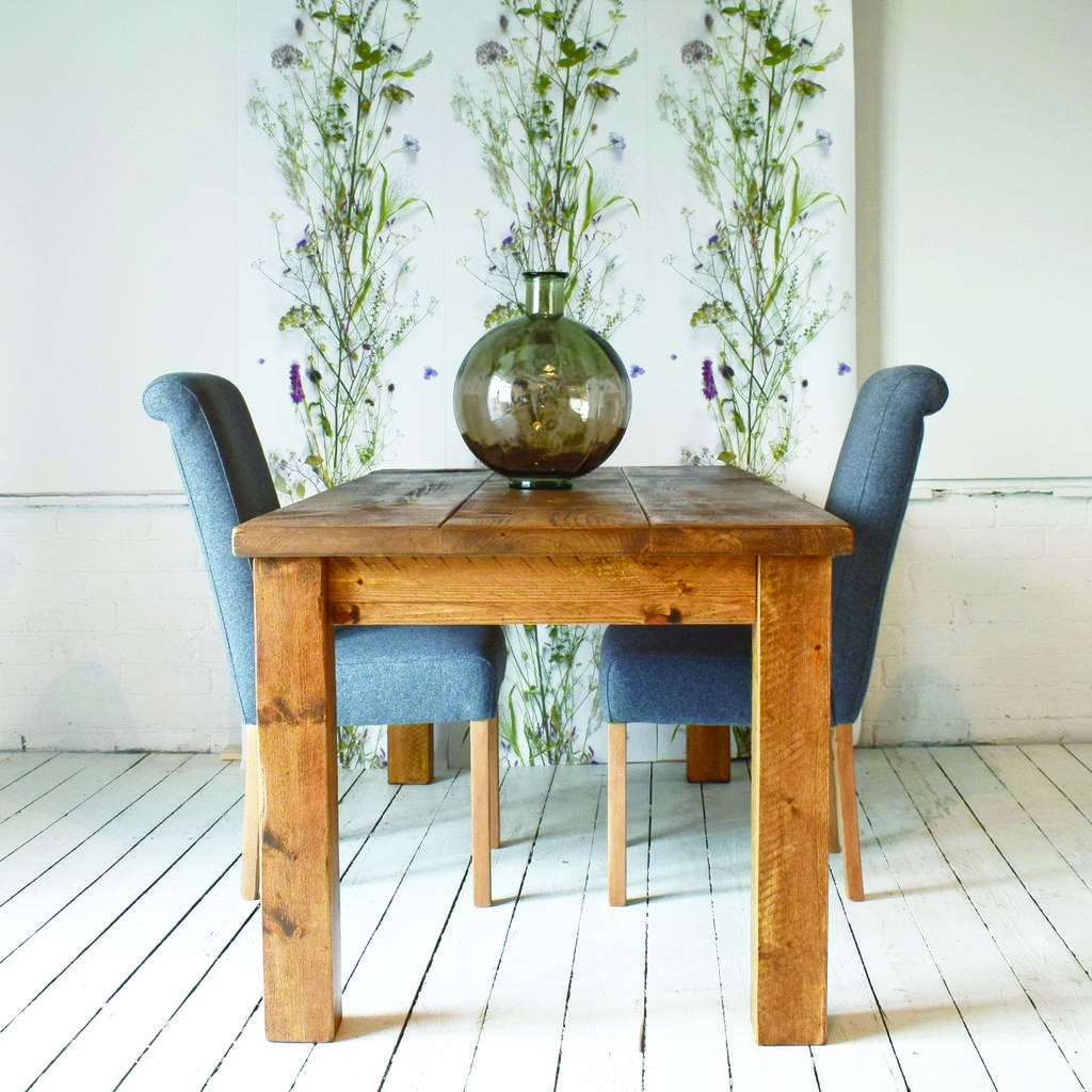 Solid Wood Dining Table Within Trendy Solid Wood Dining Tables (View 13 of 25)