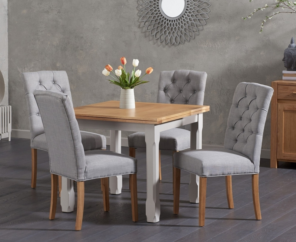 Somerset 90Cm Flip Top Oak And Grey Dining Table With Candice Grey Within Famous Candice Ii 6 Piece Extension Rectangle Dining Sets (View 10 of 25)