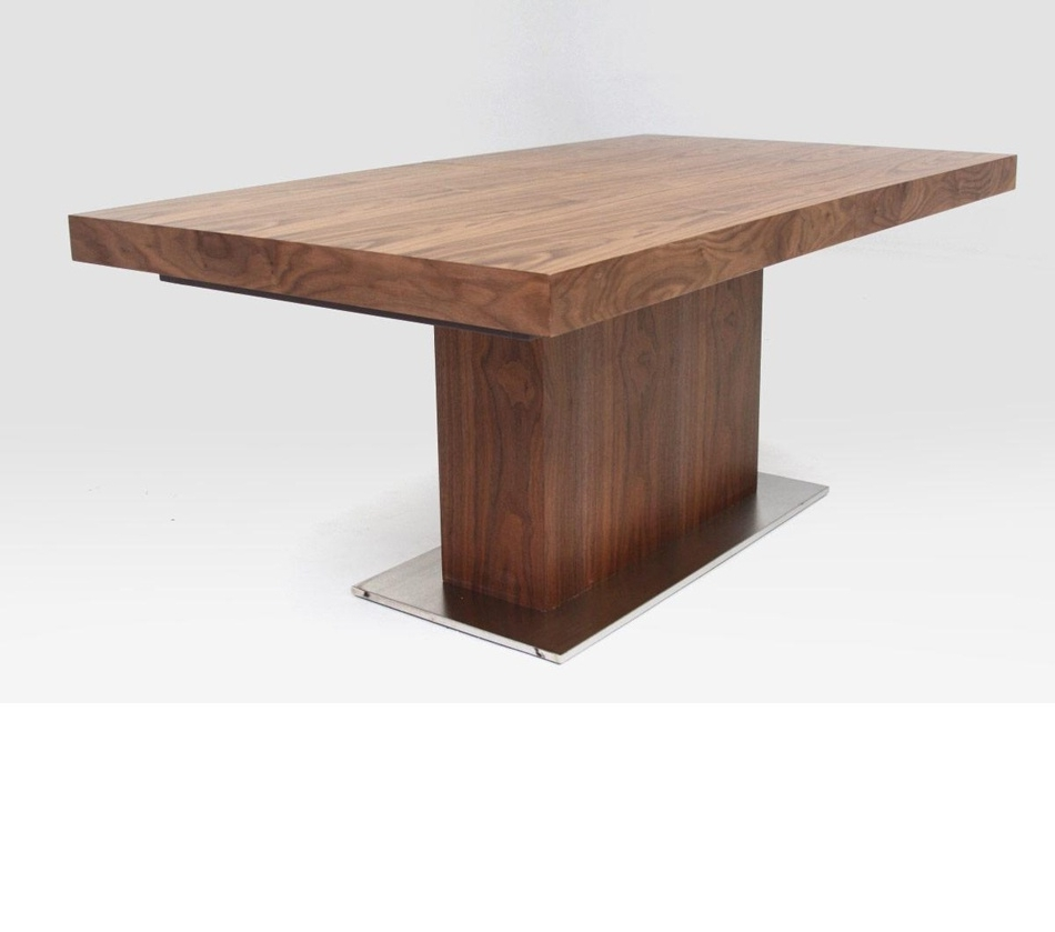 Square Extendable Dining Tables Intended For Well Liked Stylish Dining Room Furniture Mirror Slab Lacquered Fir Wood Orange (View 25 of 25)