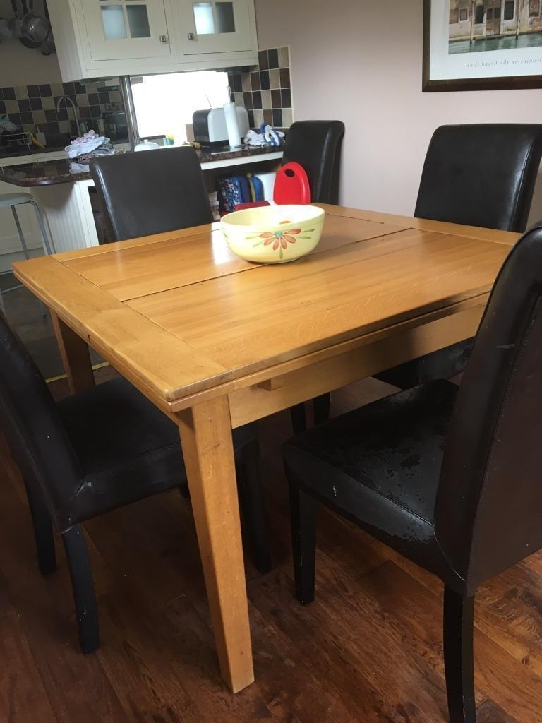 Square Extending Dining Table In Solid Oak (View 3 of 25)