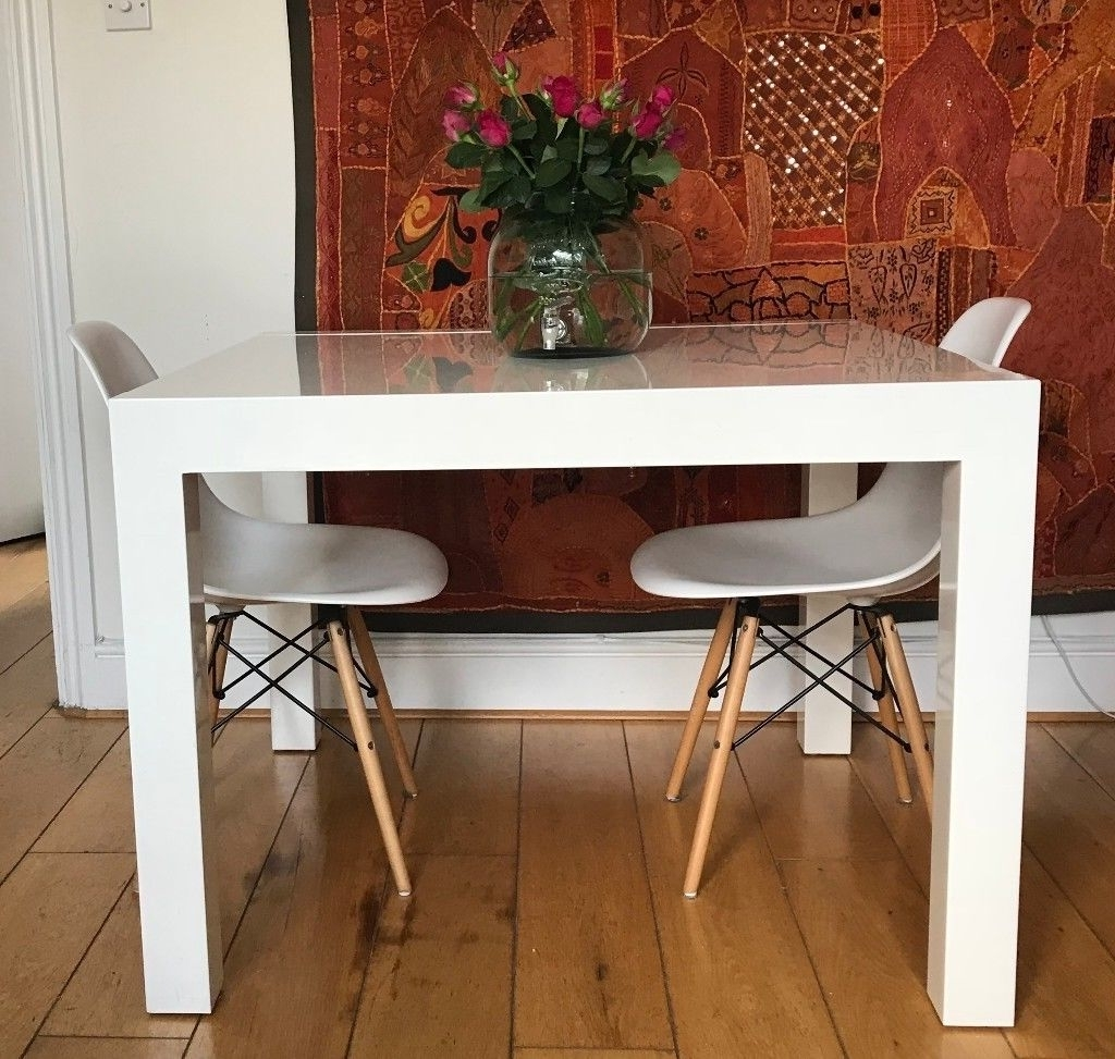 Square Extending Dining Tables Regarding 2018 Bramante Square Extending Dining Table, White (From Made) + 4 Chairs (View 17 of 25)