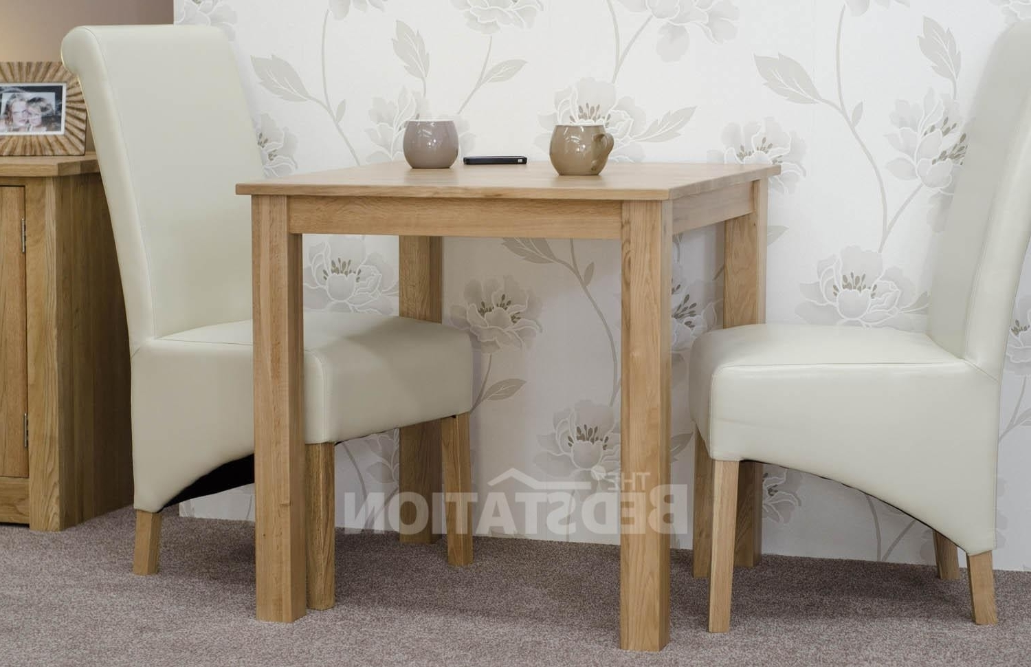 """Square Oak Dining Tables Inside Most Current Homestyle Elegance Oak 2'6"""" X 2'6"""" Square Dining Table From The Bed (View 25 of 25)"""