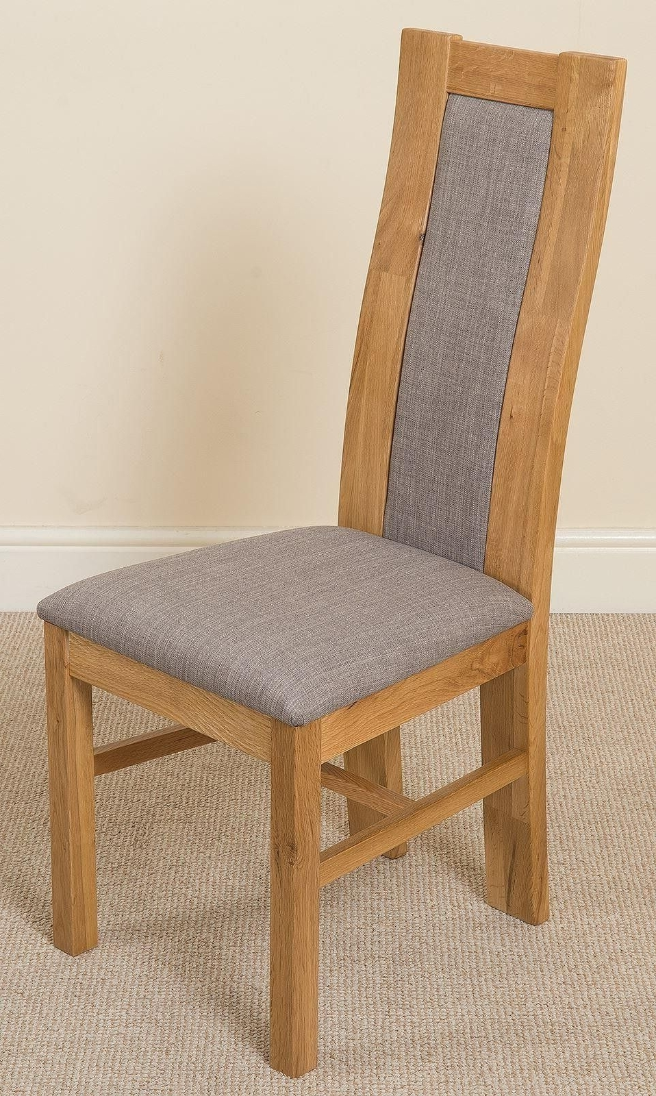 [%Stanford Solid Oak Dining Chair [Light Oak And Grey Fabric] The Very Regarding 2018 Oak Dining Chairs|Oak Dining Chairs In Preferred Stanford Solid Oak Dining Chair [Light Oak And Grey Fabric] The Very|Widely Used Oak Dining Chairs Inside Stanford Solid Oak Dining Chair [Light Oak And Grey Fabric] The Very|Well Known Stanford Solid Oak Dining Chair [Light Oak And Grey Fabric] The Very Within Oak Dining Chairs%] (View 10 of 25)