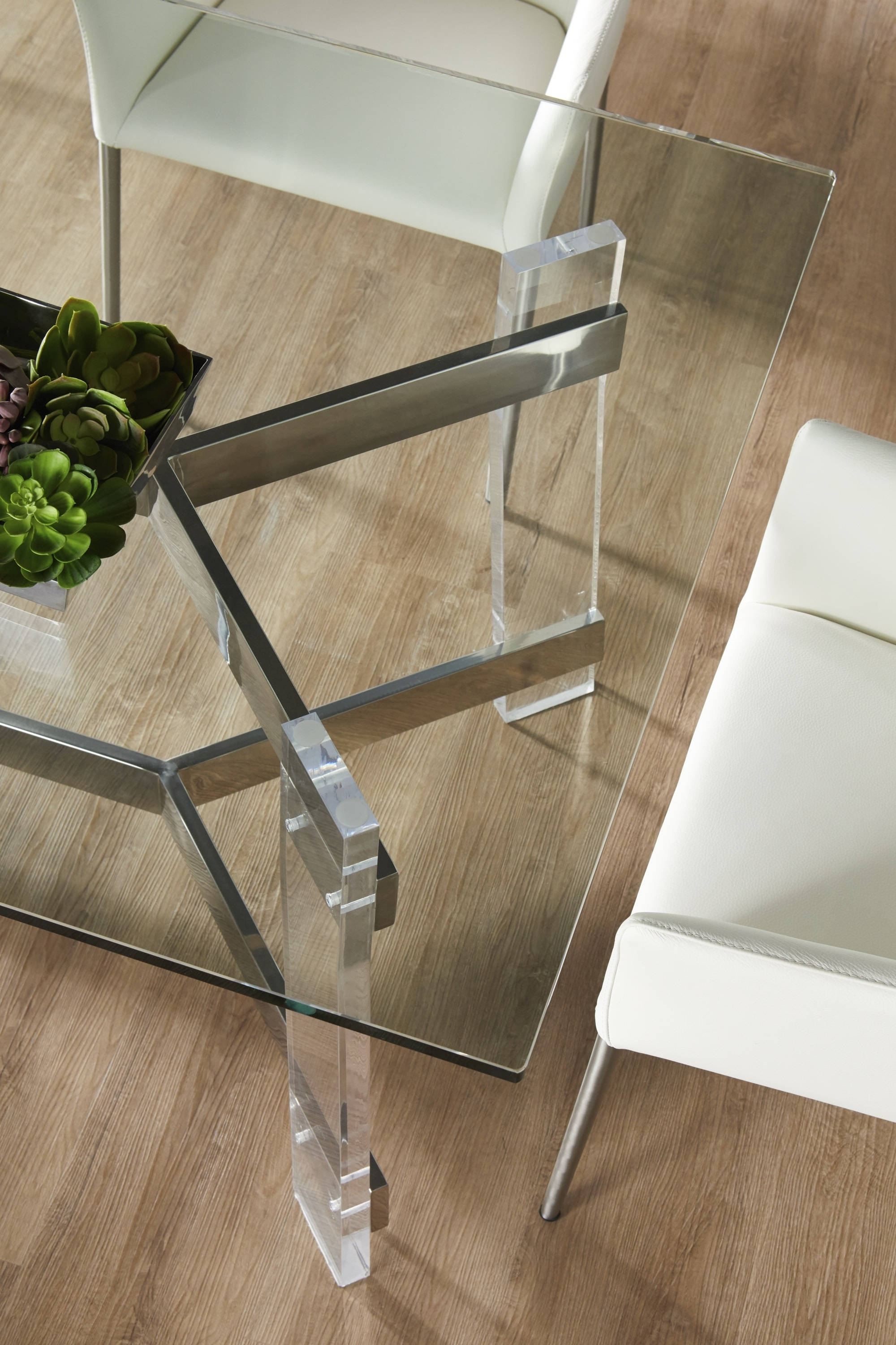 Star International Nora Clear Rectangle Dining Table Base (View 24 of 25)