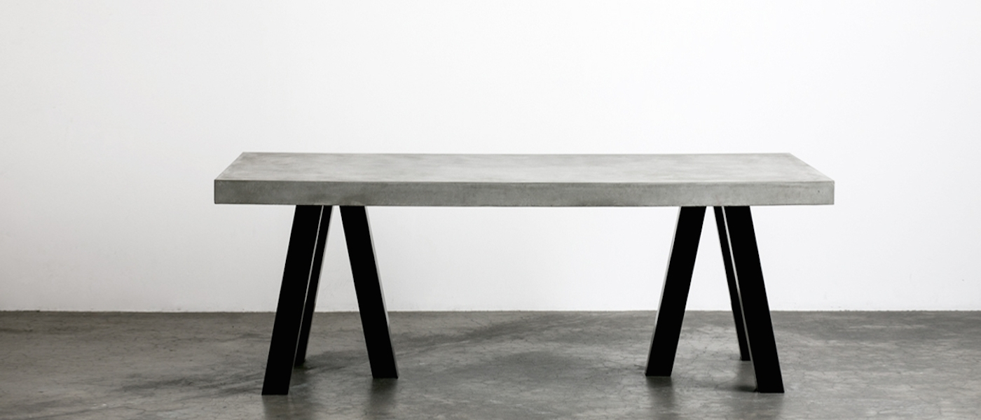 Steel And Concrete Dining Table (View 21 of 25)