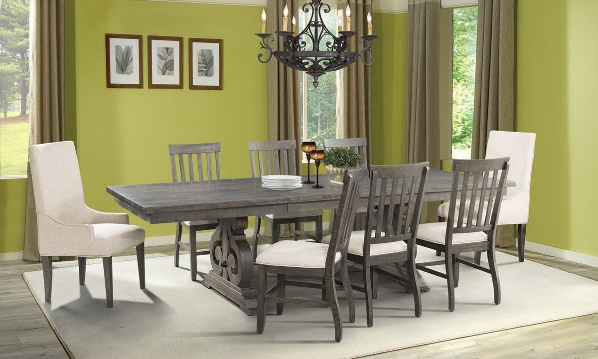 Stone Dining Tables With Preferred Stone Acacia 5 Piece Dining Set (View 21 of 25)