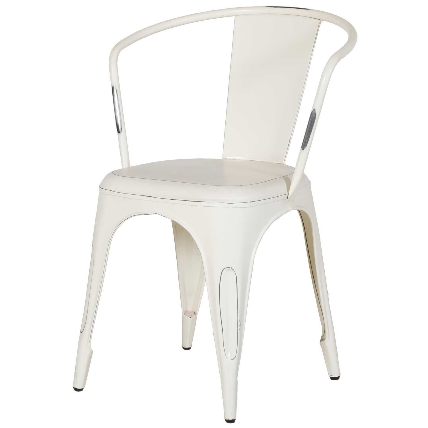 Stylish Dining Chairs Intended For Fashionable Vintage White Retro Cafe Arm Chair Sie A1042W (View 11 of 25)