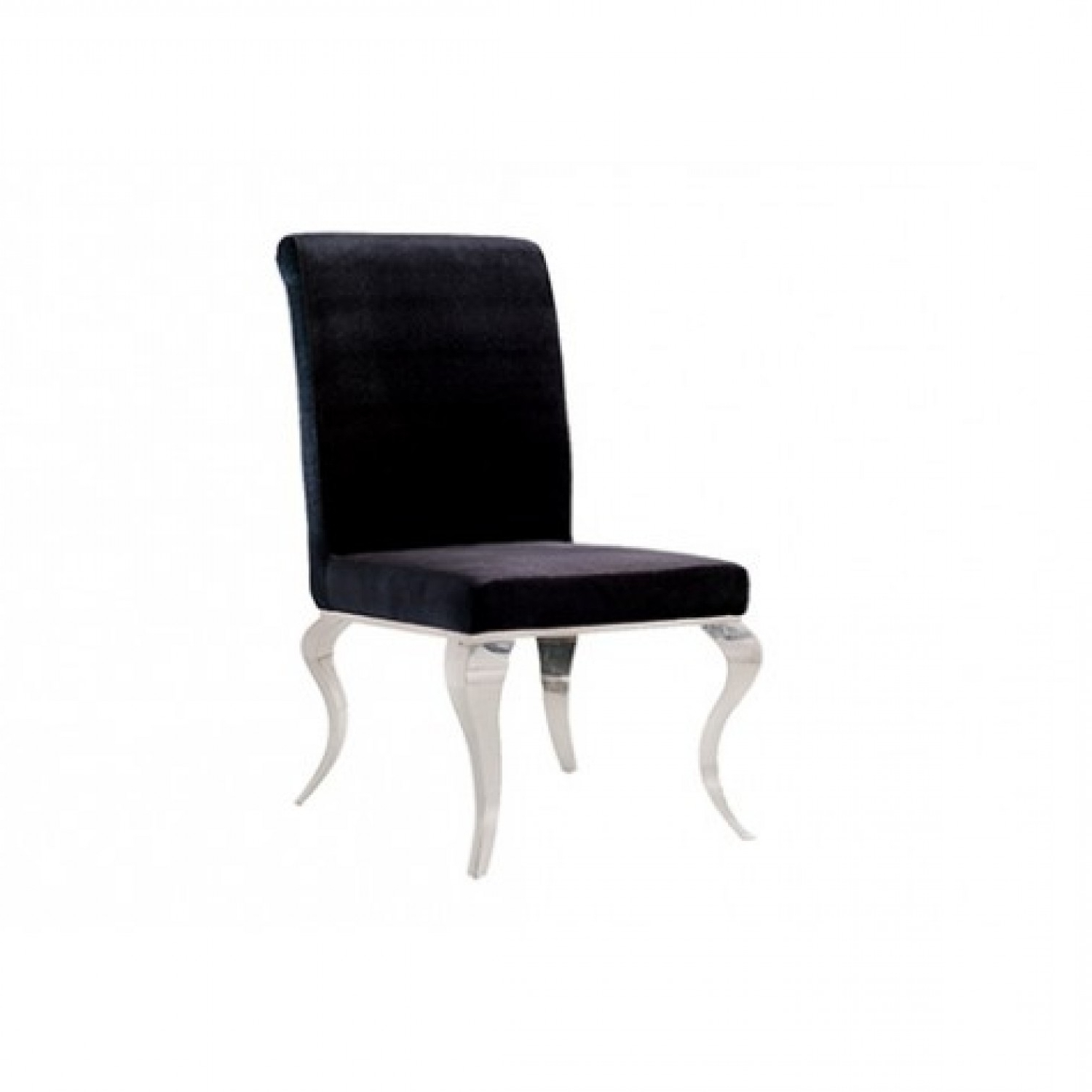 Stylish Dining Chairs Intended For Latest Louis Dining Chair In Black Velvet – Stylish Dining (View 13 of 25)