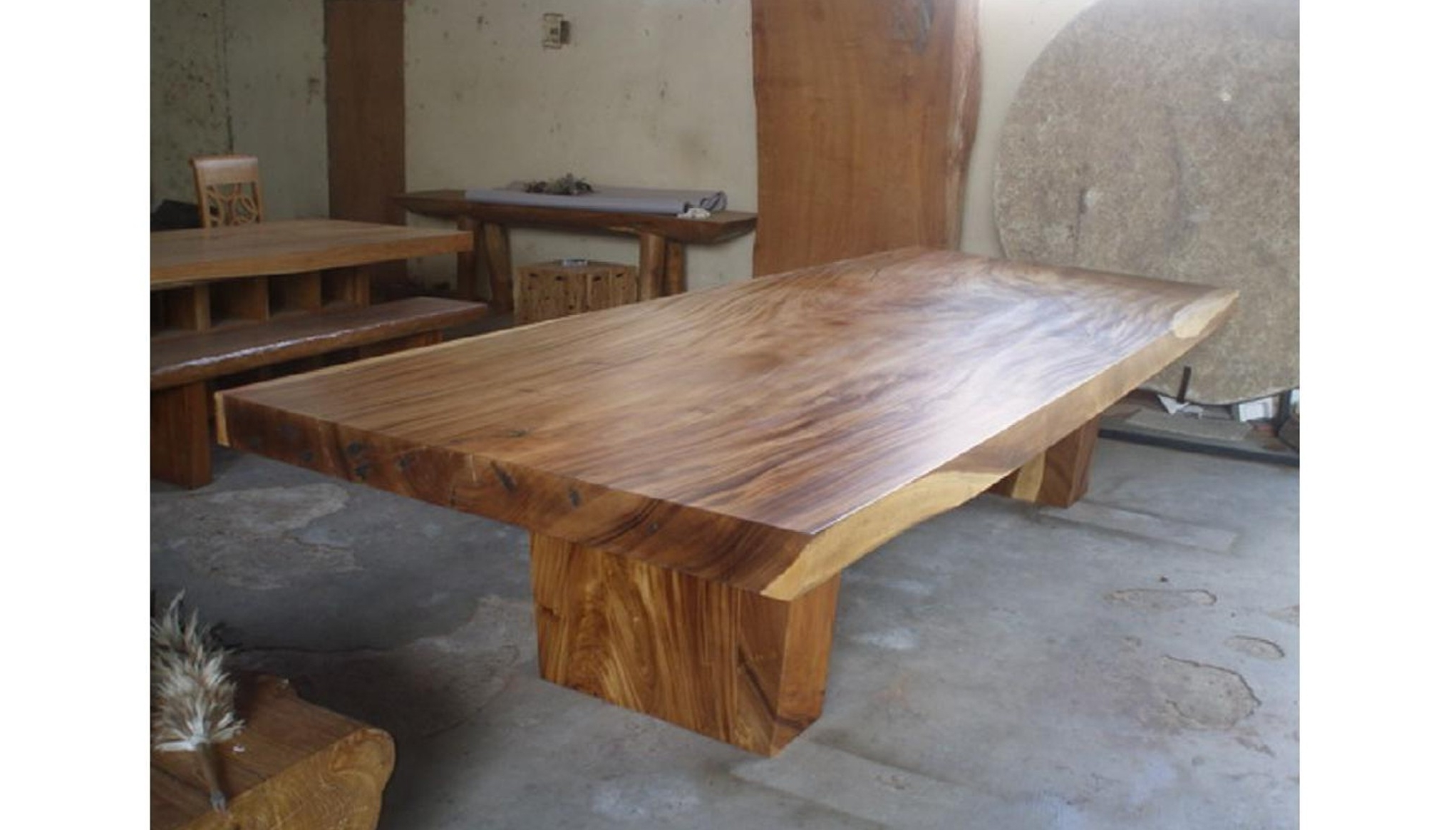 Suar Dining Table – Extra Large Teak Style Bali Table With Regard To Recent Balinese Dining Tables (View 11 of 25)