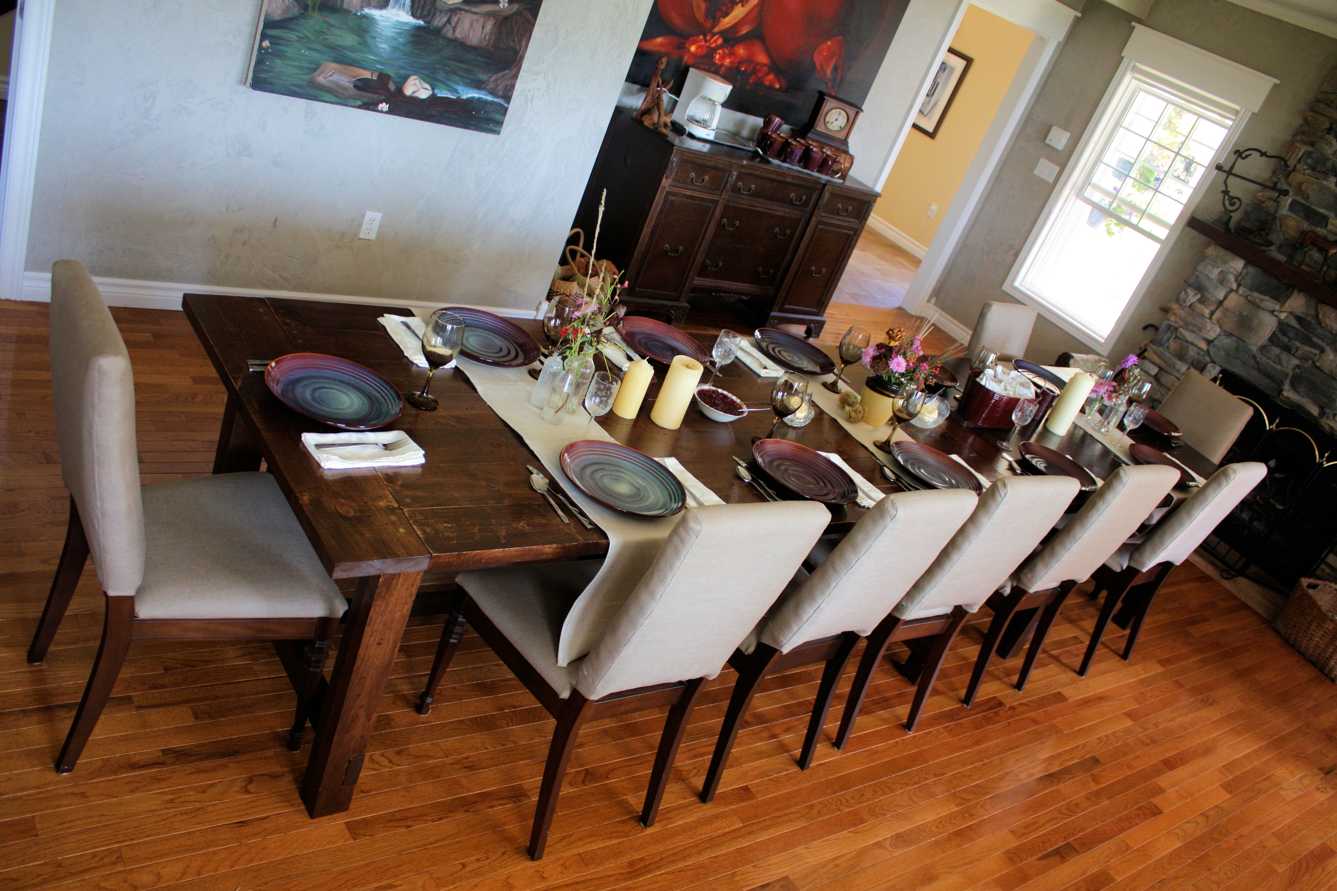 Super Big Farmhouse Dining Table And Bench – Diy Projects (View 21 of 25)