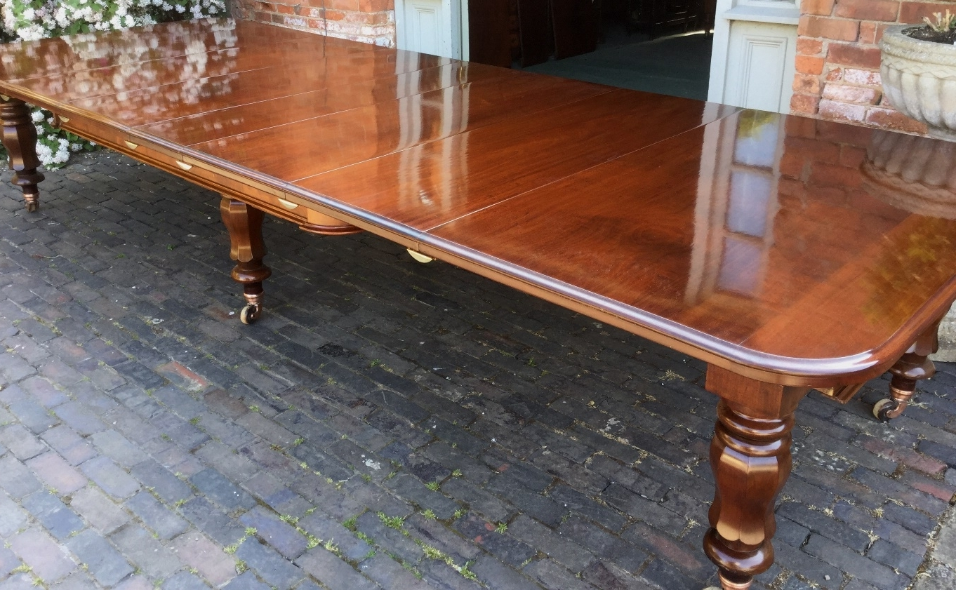 Superb Victorian 5 Leaf Extending Dining Table Seat 14 – Dining Pertaining To Newest Extending Dining Tables With 14 Seats (View 25 of 25)